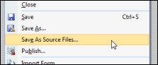 Save xsn file as source files