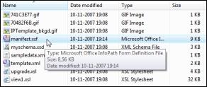 The xml manifest file