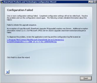 Microsoft.Office.Server.Search.Upgrade.SearchServiceInstanceSequence failed